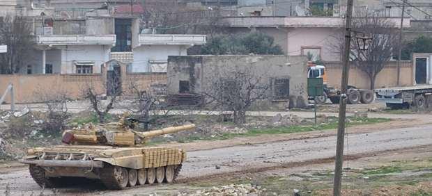 Tanque en Homs, Siria