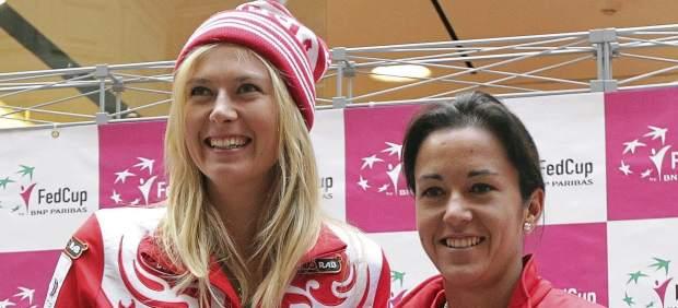 Sharapova y Silvia Soler