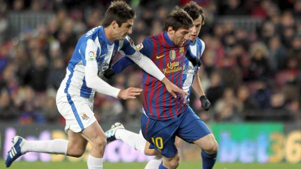 Messi ante la Real Sociedad