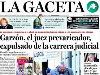 Garzón en La Gaceta