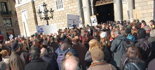 Manifestación contra los productos bancarios