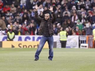 Roberto Carlos en el Bernabéu
