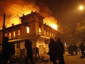 Un cine en llamas