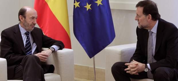 Rajoy y Rubalcaba