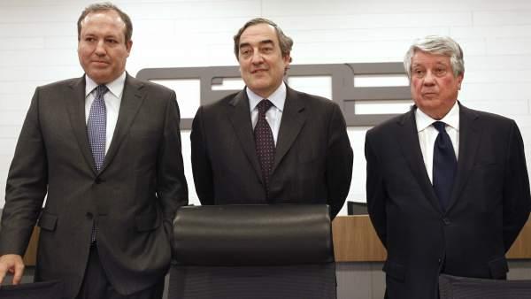 Jesús Terciado, Juan Rosell y Arturo Fernandez