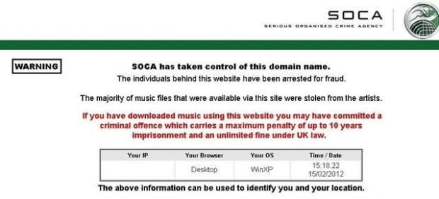 Reino Unido cierra una web de descargas y amenaza con de 10 años de cárcel a los usuarios