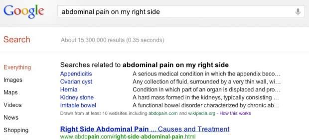 Google mejora los resultados de las búsquedas sobre salud