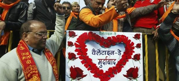 Manifestación anti San Valentín