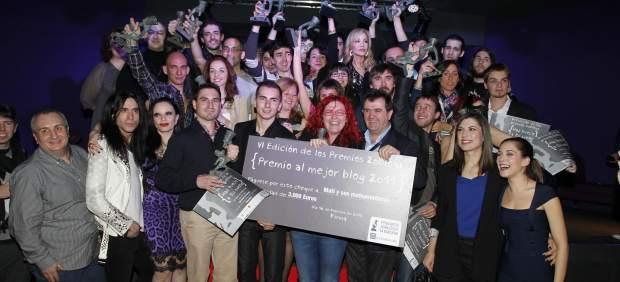 Los premiados en la gala de los Premios 20blogs
