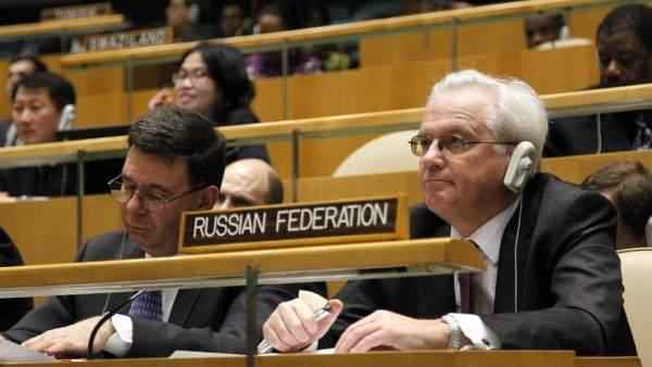 Vitaly I. Churkin, representante permanente de Rusia ante la ONU
