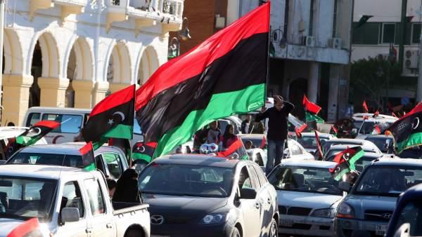 Celebraciones en Libia