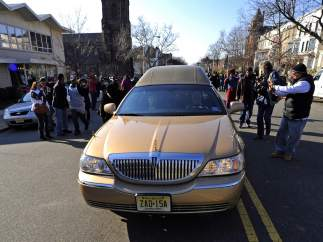 El coche fúnebre de Whitney Houston