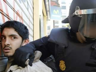 Actuación policial en Valencia