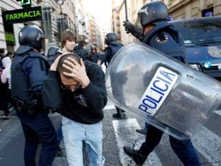 Revuelta estudiantil en Valencia