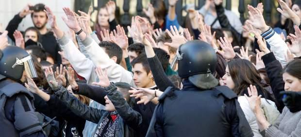 Protestas estudiantes en Valencia