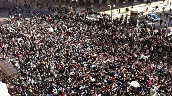 Protesta en Valencia