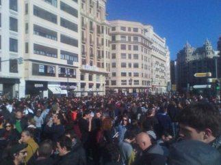 El centro de Valencia, tomado