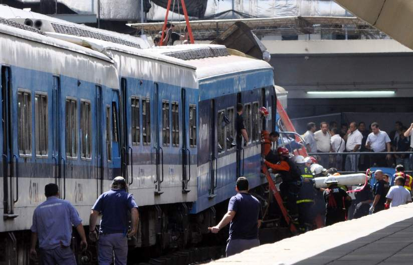 Tr�gico accidente de tren en Argentina