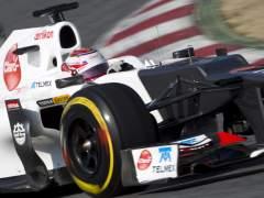 Kobayashi en su Sauber
