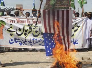 Protestas contra la quema de coranes