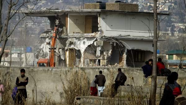 Destruyen de la casa de Osama Bin Laden