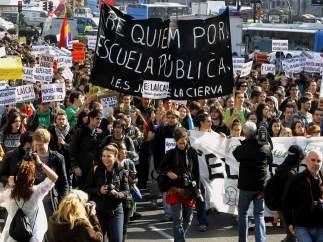 Protestas contra los recortes educativos