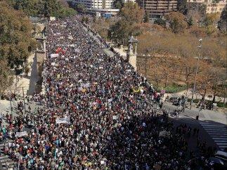 Marcha sin incidencias en Valencia