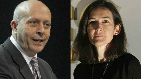 José Ignacio Wert y Ángeles González-Sinde