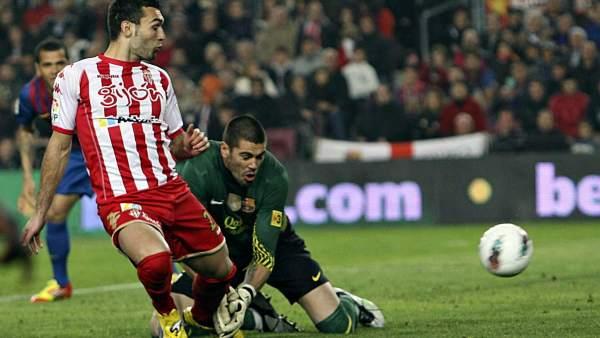 Valdés y Barral en el Barça - Sporting