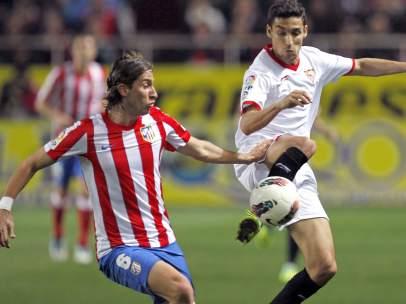 Navas y Filipe Luis en el Sevilla - Atlético