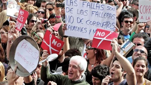 Protestas en las Fallas