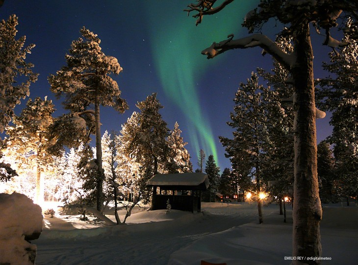 La aurora boreal en todo su esplendor. La aurora boreal fotografiada desde la Laponia finlandesa este febrero.