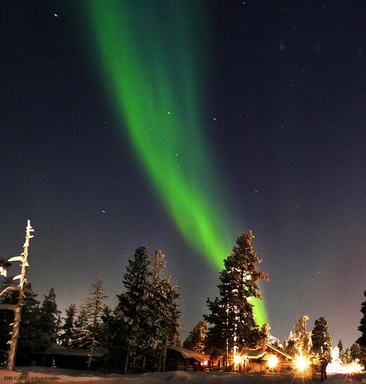 La aurora boreal en todo su esplendor. La aurora boreal, también conocida como 'luces del Norte', fotografiada este febrero desde la Laponia finlandesa.
