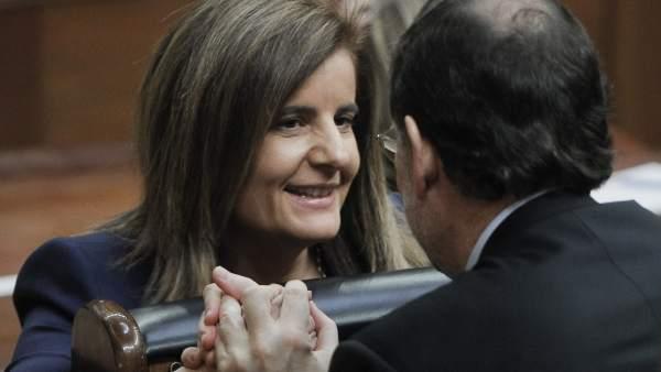 Fátima Báñez y Mariano Rajoy