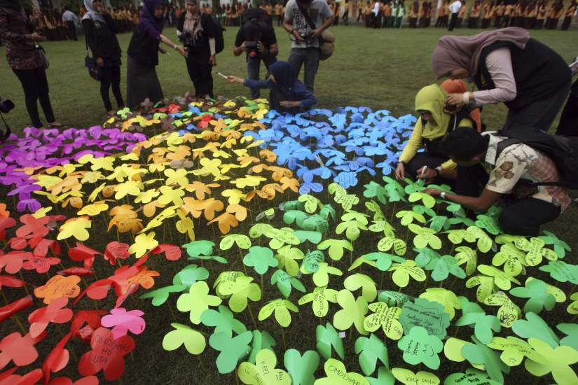Mensajes en flores