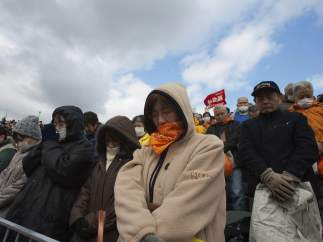 Un minuto de silencio en Fukushima