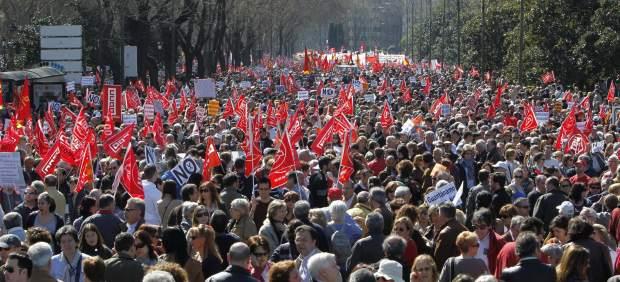 Miles de personas en Madrid