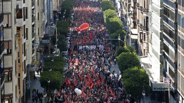 Valencia, contra la reforma laboral