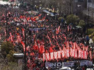 Marcha contra la reforma en Zaragoza