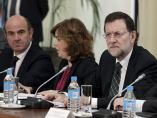 De Guindos, Sáenz de Santamaría, Rajoy y Montoro
