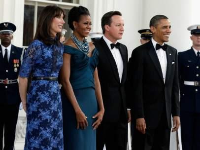 Los Cameron y los Obama, en la gala que celebraron en la Casa Blanca
