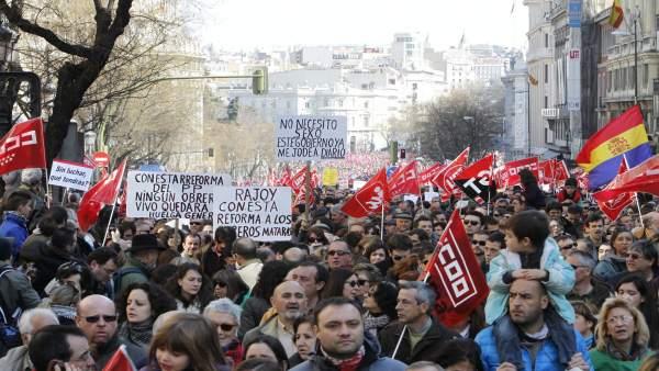Manifestación en Madrid contra la reforma laboral