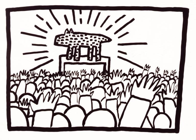 Foto: \'Sin título\', 1980 | La llegada de Haring a Nueva York