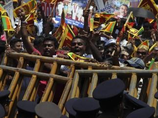 Manifestaciones en Ski Lanka contra la resolución de la ONU