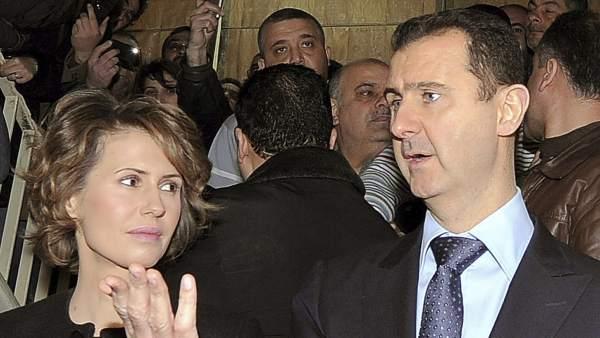 Bachar Al Asad y su esposa, Asma