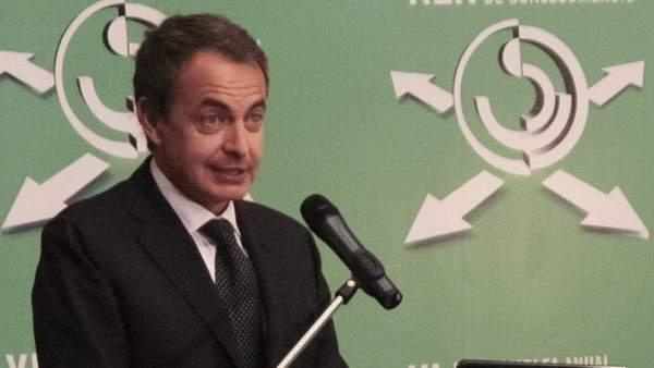 Zapatero, en una conferencia en Venezuela
