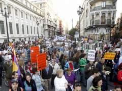 Manifestaciones del 15M previas a las elecciones
