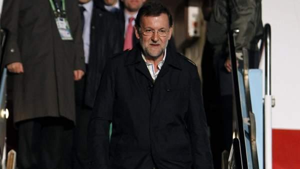 Rajoy, a su llegada a Seúl
