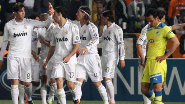 Gol del Madrid al Apoel