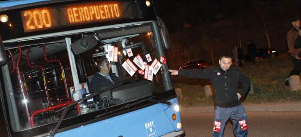 Pegatinas en los autobuses